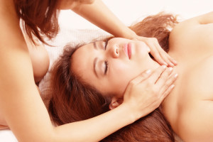 Massage sensual two women